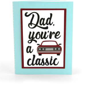shadow box card front flap dad classic