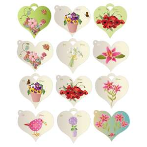 easter flowers gift tags
