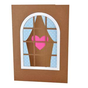heart in the window card