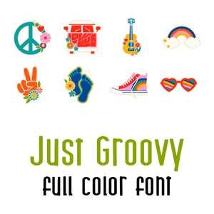 just groovy full color font