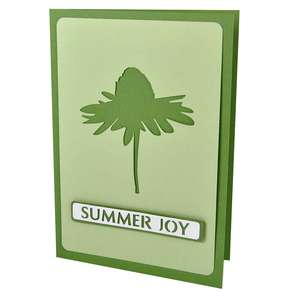 coneflower summer joy stencil card