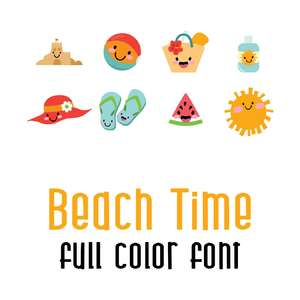 beach time full color font