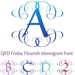qfd friday flourish monogram font