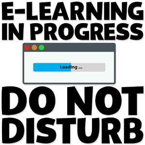 e-learning in progress do not disturb