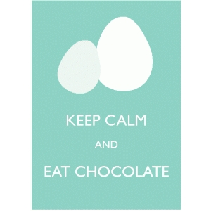 keep calm & east chocolate poster / embellishment