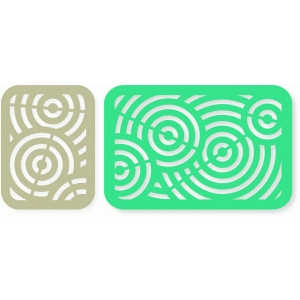 overlapped circles card