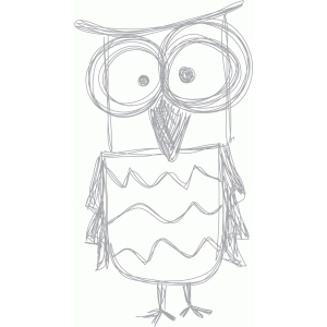 tall owl sketch
