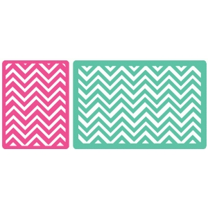 set of 2 chevron journaling cards