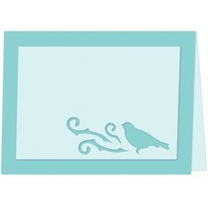 bird and tree place card