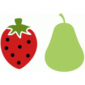 pear and strawberry