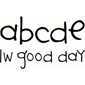 lw good day font