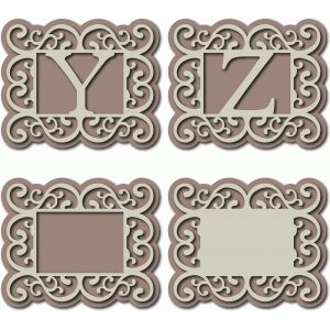flourish monogram yz & blanks