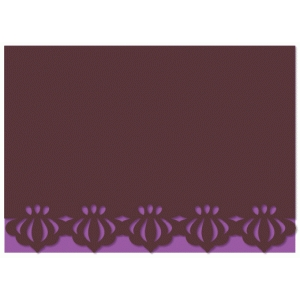 scallop bubble border card
