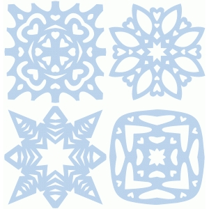 set of four snowflakes part 1