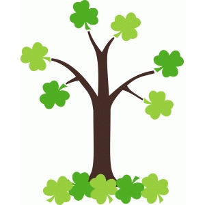 st. patrick's day shamrock tree