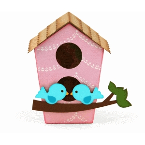 3d two-story birdhouse