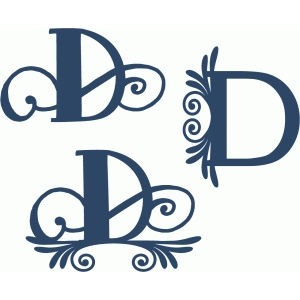 flourish monogram set - d