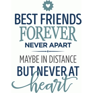 best friends forever never apart phrase