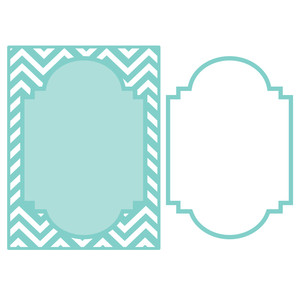 chevron mat & frame background