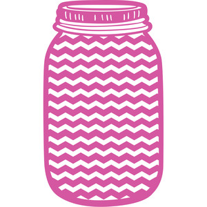 chevron mason jar