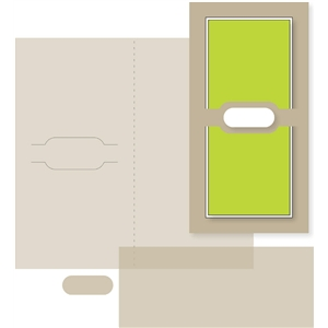 money holder card - rounded rectangle