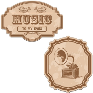 vintage labels - music to my ears