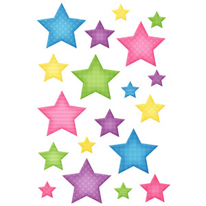 happy stars stickers