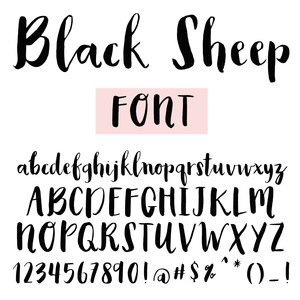black sheep handbrushed font
