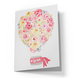 cute hot air ballon card