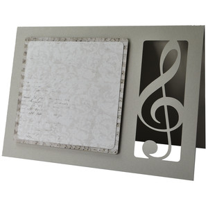 treble clef blank card