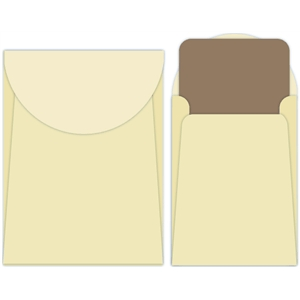 rounded envelope with card set