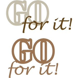 go for it phrase