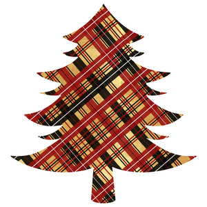 gold plaid christmas tree