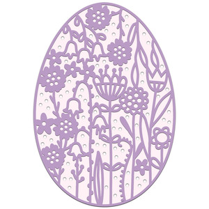intricate floral easter egg
