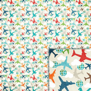 airplanes background paper