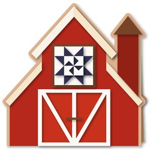 barn with quilt shaped 6x6 card