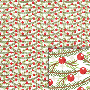 christmas pine boughs background paper