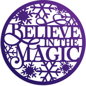 believe in the magic christmas ornament
