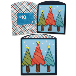 trees gift card envelope