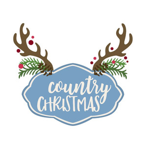 country christmas phrase