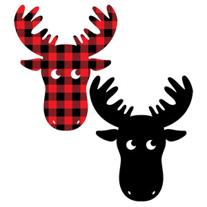 buffalo plaid moose and regular cut moose