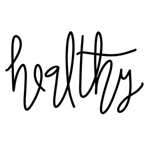 healthy word art
