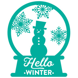 snow globe - hello winter