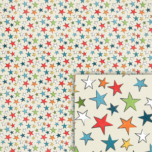 birthday stars background paper