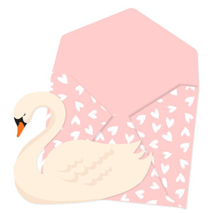 swan card and envelope