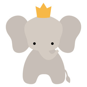 elephant with crown