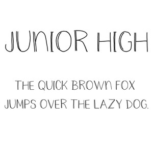 cg junior high font