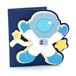 astronaut in space card