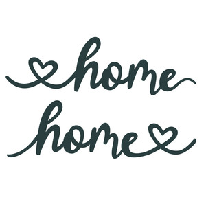 home with hearts phrase