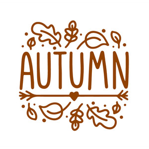 autumn wordart